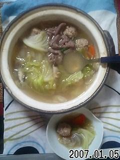 肉団子鍋です!