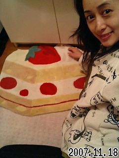 洗面所にショートケーキ(*^_^*)