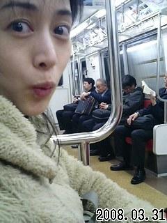 """夜10時の電車(-""""-;)"""